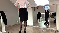 secretary coming home striptease and dickriding