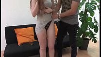 Innocent redhead babe gets nailed by her lucky ...