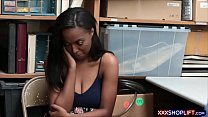 Watch Shy ebony shoplifter got caught and fucks_with the security preview
