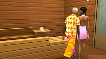 Daughter Helps Father With Sex In The Sauna