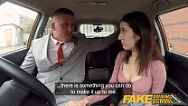 Fake Driving School Large spunkload given to hot european in a car Thumbnail