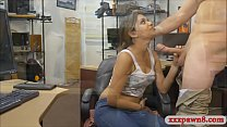 Lovely amateur babe screwed by pawn dude