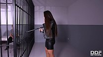 POV blowjob action in the interrogation room wi...
