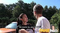 Public Agent Facial and hard public fucking for cheating American babe Thumbnail