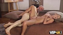 VIP4K. Old man discovers sexual talents of youn...