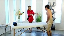 Shy guy on his first massage with Kimmy Granger - Fantasy Massage's Thumb