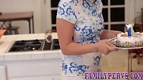 Stepdaughter gives blowjob and rides dick befor...