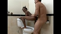Young ebony teen gets creampied for the firs ti...