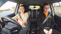 Fake Driving School Hot European babes fanny gets fucked
