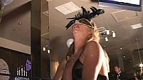 Watch Big clit MILF in mask cums like crazy in Trapeze swinger club orgy preview
