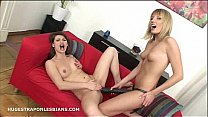 Betty analed hard by Xenia with a huge strapon ...