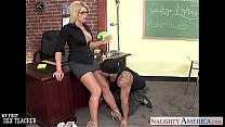 Sinfully teacher Brooke Haven fucking her younger student's Thumb
