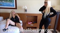 Musa Libertina enjoys lesbian sex with hotel manager Blondie Fesser's Thumb