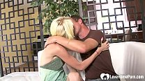 Amazing blonde cannot have enough of his hard pecker inside of her pussy.'s Thumb