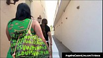 Latina BBW Angelina Castro Drilled Doggy Style On Building!