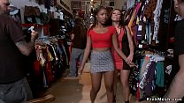 Ebony slave rough banged for public in various ...
