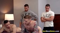 Hot college guys have to suck and fuck dicks to join the fraternity - gay group sex