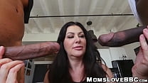Curvy mommy smashed by two black guys