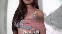Big-Titted Asian House Cleaner Gets Creampied t...