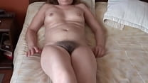 My wife's hairy sister, 56 years old, is excite...