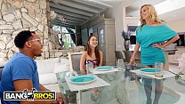 BANGBROS - Monsters Of Cock Interracial Threesome With Riley Reid And Her Stepmom's Thumb