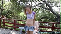 Petite babysitter fucked after sucking cock and...