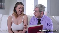 Beautiful young girl with big boobs fucked by a old man for Money's Thumb