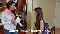 DON'T FUCK MY DAUGHTER - Rachel Starr & Bruno Fuck Teen Sally Squirt's Thumb