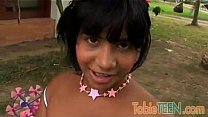 Tobie Teen has nice Latin Nipples and a Tight V...