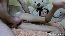 He was so horny that he cum all over my body