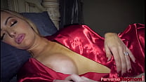 Stepson is horny and wakes up his MILF stepmom ...