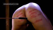 Curved slave girl whipped