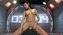 Toned busty brunette solo babe Luna Star naked ...