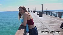 Sucked by broke teen at the beach
