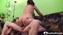 Watch Busty MILF munches on his cock before he fucks her in hardcore fashion. preview