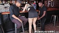 Big ass MILF pounded by black studs