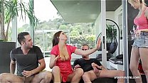 Watch Two couples fuck in threesome and double penetration preview