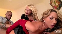 Watch The Sugar Sex Sandwich - Two Blondes and 1 Big Black Cock preview