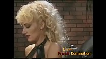 Before this blonde hottie becomes a dominatrix,...