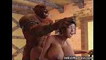 3D Big Breasted Babes Fucked By Monsters