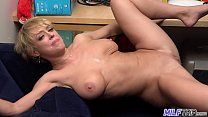 Watch MILF Dee Williams gets a mouth and faceful of cum preview