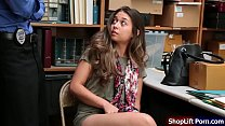 Teen brunette is arrested by store officer for ...