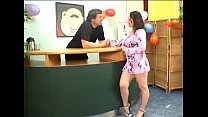 Boner riding from exquisite maid Jenny with lar...