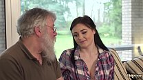 Beautiful teen fucked in her sweet pussy by grandpa