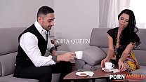 Watch Kira Queen's big tits and booty bounce wh...