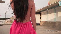 Watch Naughty Lada wearing sexy red_dress preview