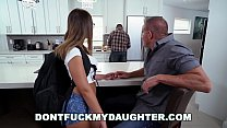 DON'T FUCK MY DAUGHTER - Slutty Teen Sneaking Around With Daddy's Friend's Thumb