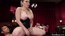 Tied in pile driver position Mia Austin gets pu...