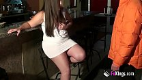 Crazy brunette fucks some idiot in a bar as r. ...
