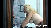 Amateur bondage with nude playgirl